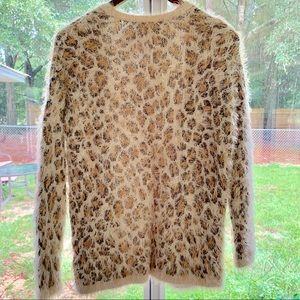 Divided Sweaters - Leopard Print Soft & Fuzzy Open Cardigan Divided
